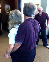 Patient after Thompson Clinic Age Management Program - Pictured at 209 lbs. with wife.