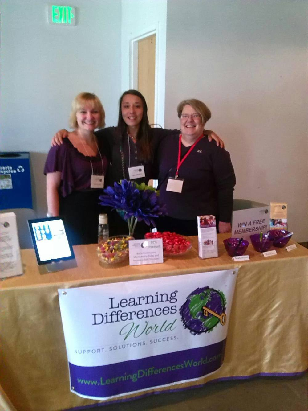 From left: Brittany Clark, Julia LaBarbera, Roxanne Bradley at the 2014 Denver MITT Transitions Fair