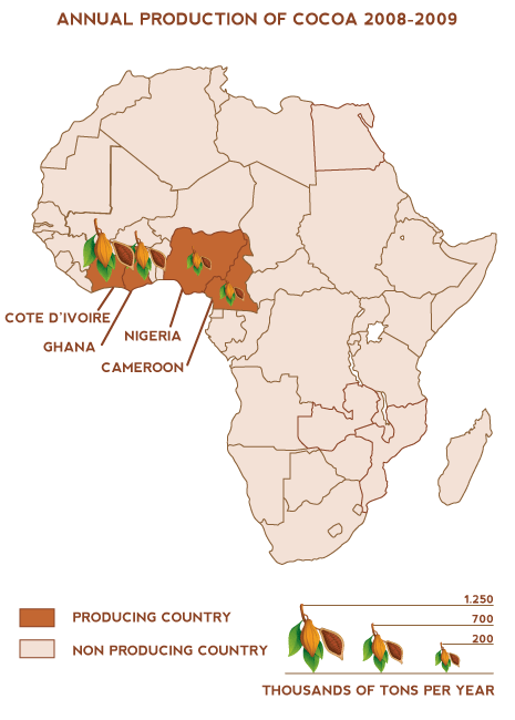 cocoa production in west africa Cocoa producers have little bargaining power against the few large  gearhart,  current executive director, on child labor in the west african cocoa industry.