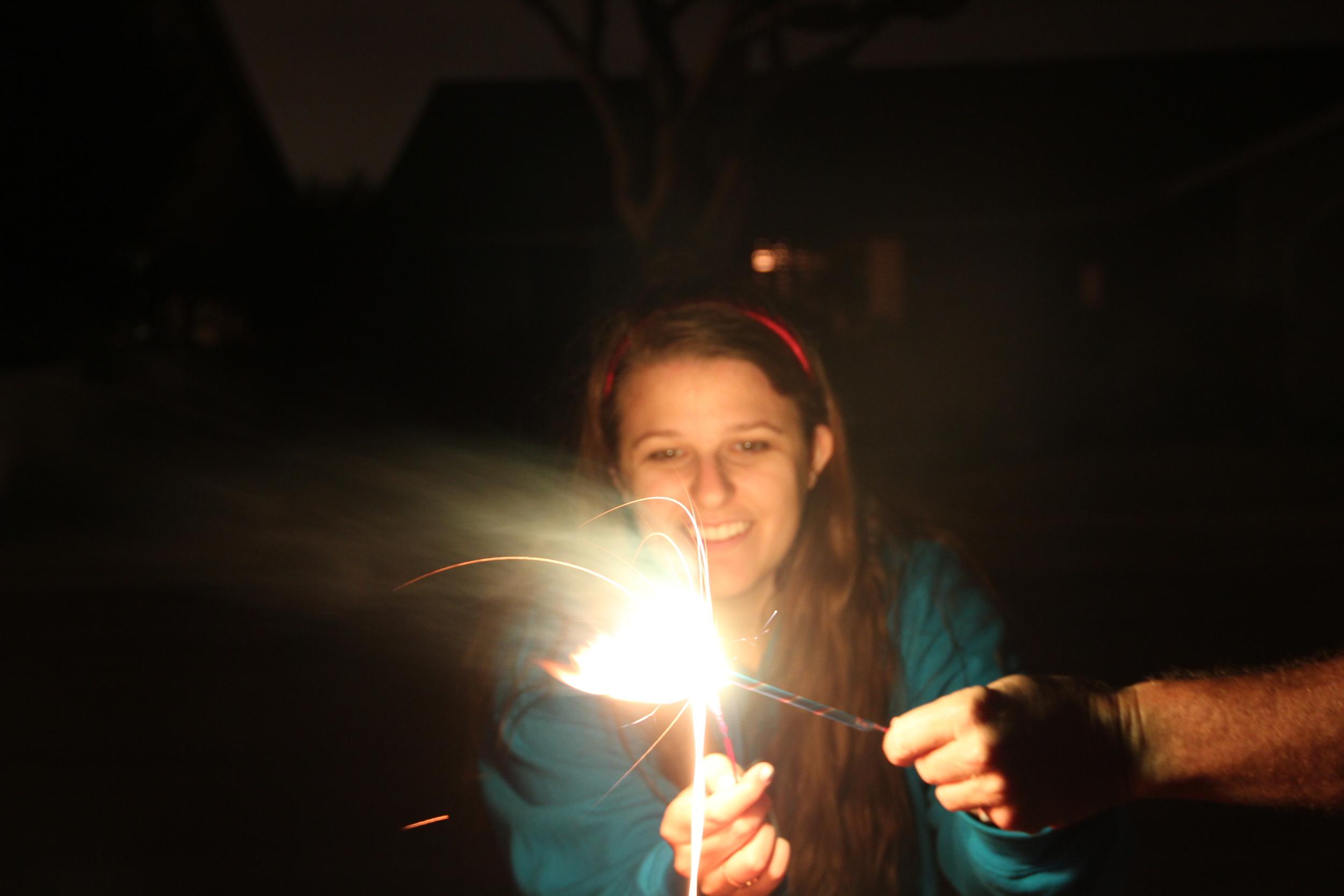 sparkler happy.