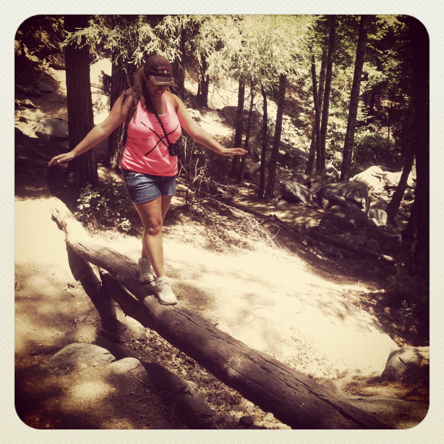 re-enacting Dirty Dancing on this log haha.