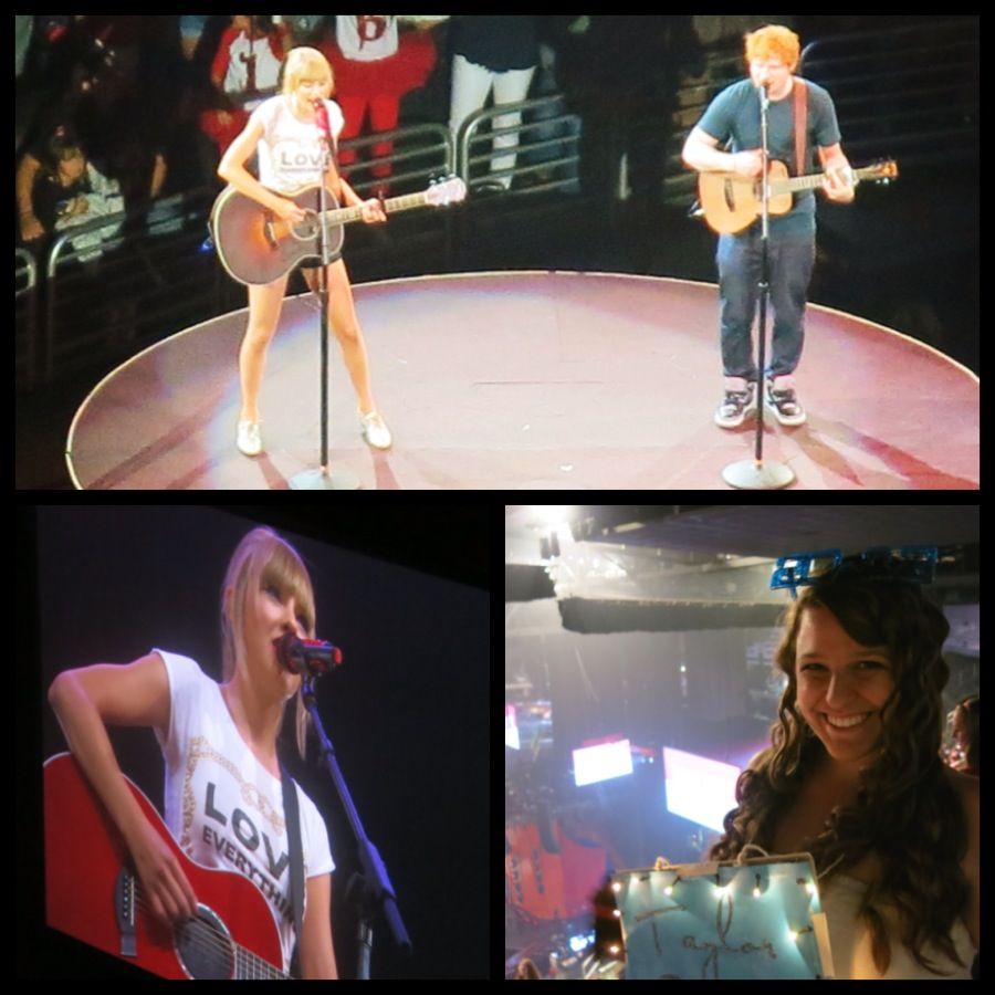 Taylor Swift (my all-time favorite) and Ed Sheeran.