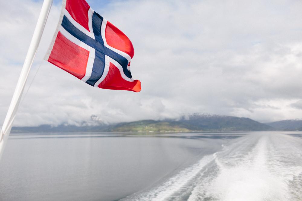 fjord cruise through Hardangerfjord