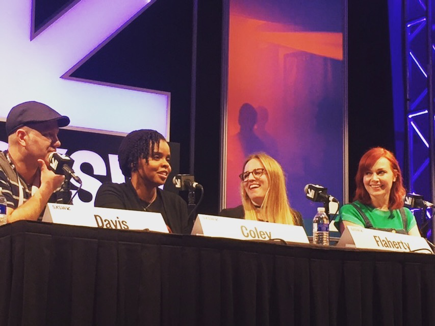 SPEAKING ON A PANEL AT SXSW FILM FESTIVAL