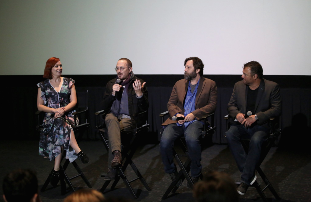 MODERATING a Q&A FOR 'MOTHER' WITH DARREN ARONOFSKY & PRODUCERS ARI HANDEL AND SCOTT FRANKLIN