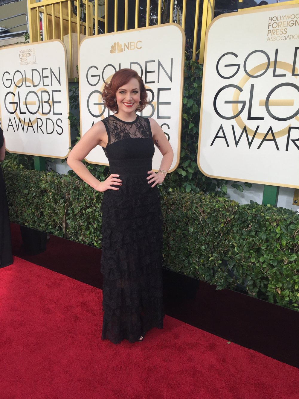 at the golden globe awards as film expert for nbc