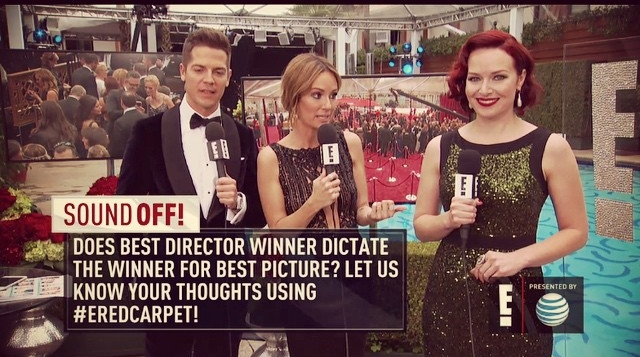 giving my oscar predictions live on E!