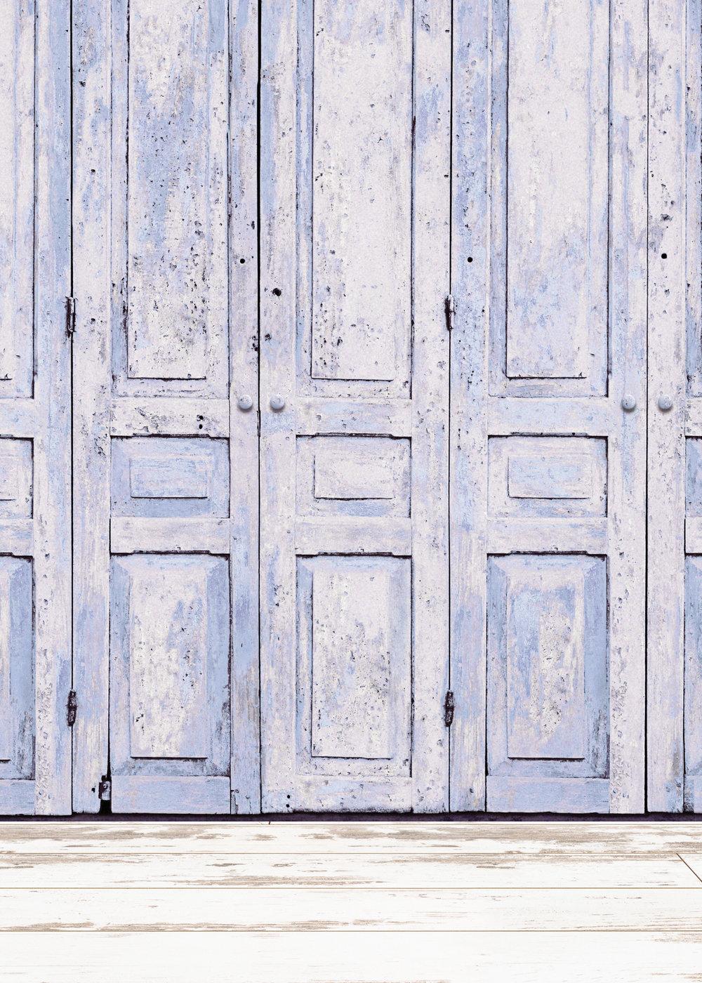 Background R - Blue Doors