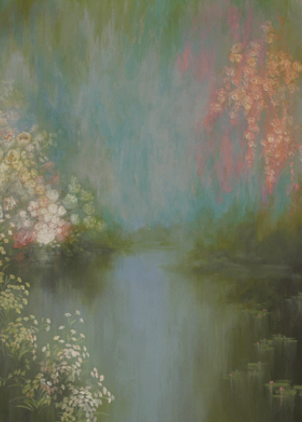 Kindergrand Background Green Pastel - D