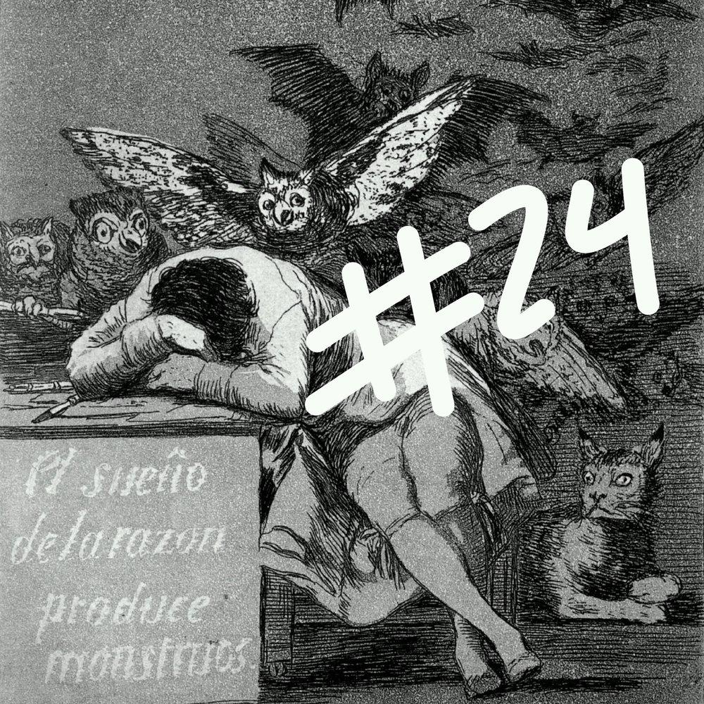 """Imagem: detalhe da pintura """"O sonho da razão produz monstros"""", de Goya."""