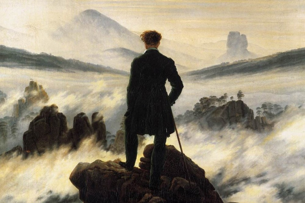 The walker above the mists, Caspar David Friedrich
