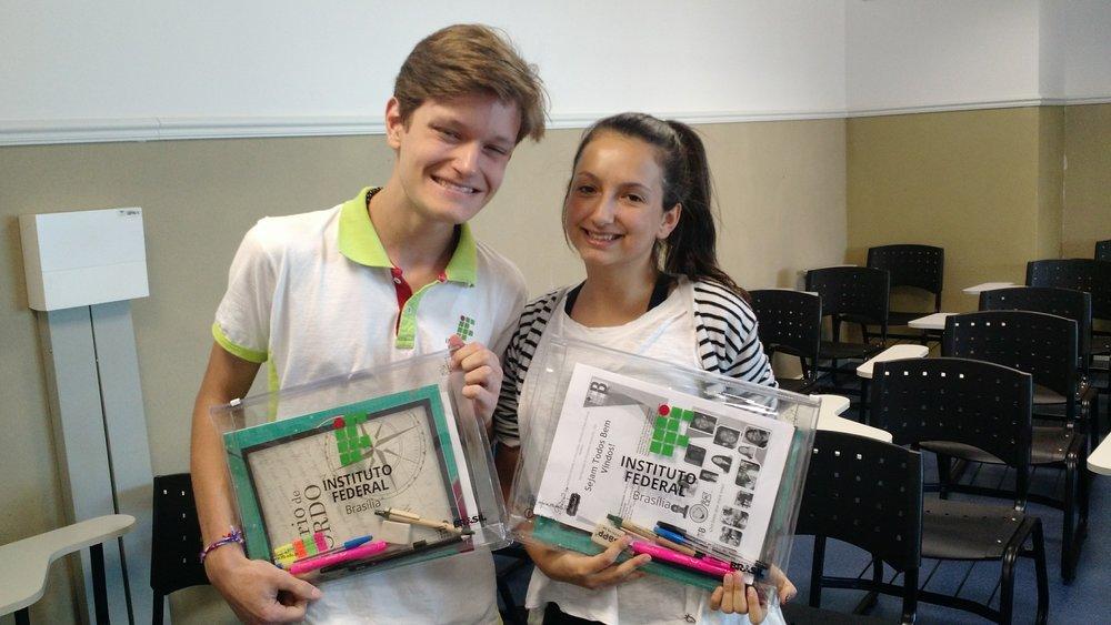 Dante e Lia, bolsistas do PIBIC do Campus Brasília.
