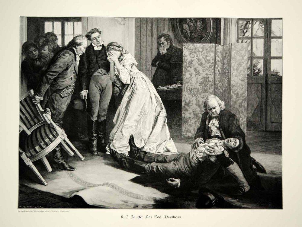 A morte de Werther - ilustração de F.C. Baude