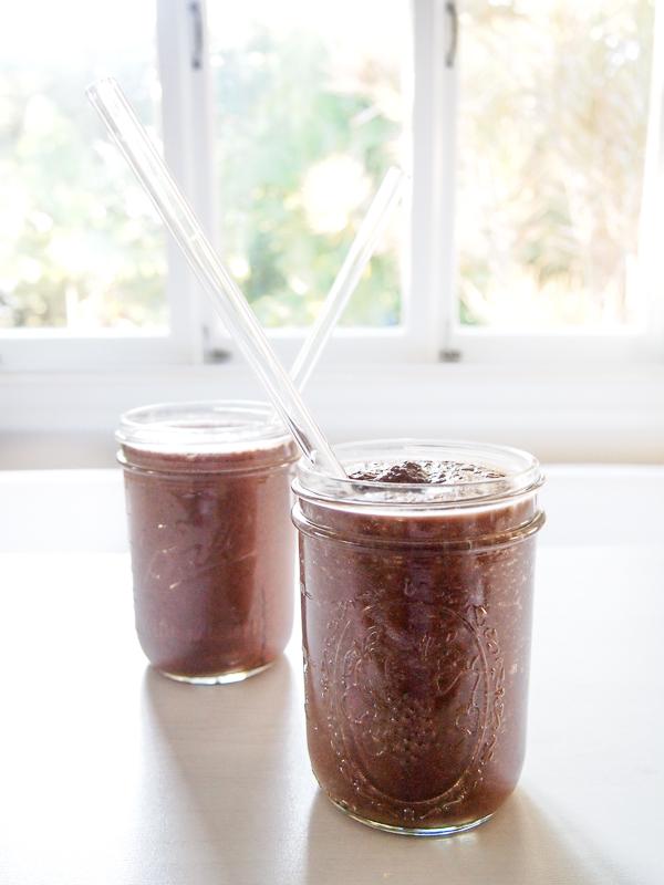 hot chocolate smoothie recipe