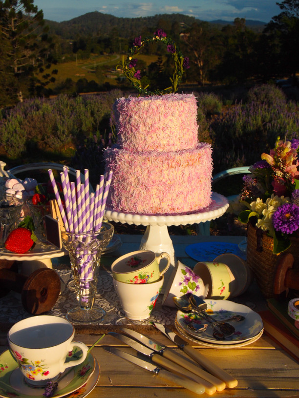 lavender picnic wedding
