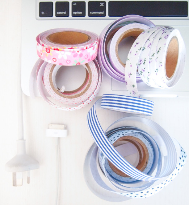 washi tape covered power cords