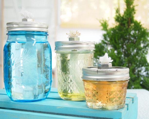 diy mason jar oil lamps