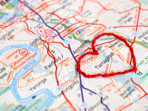 DIY embroidered maps