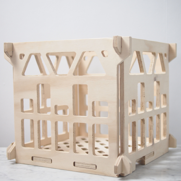spring shop wooden milk crate