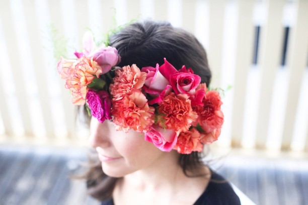 Showroom flower crown workshop