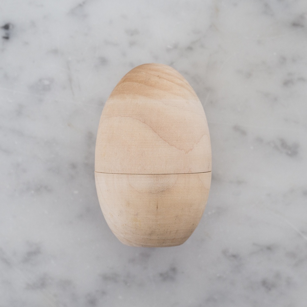 hollow wooden egg | The Spring Shop