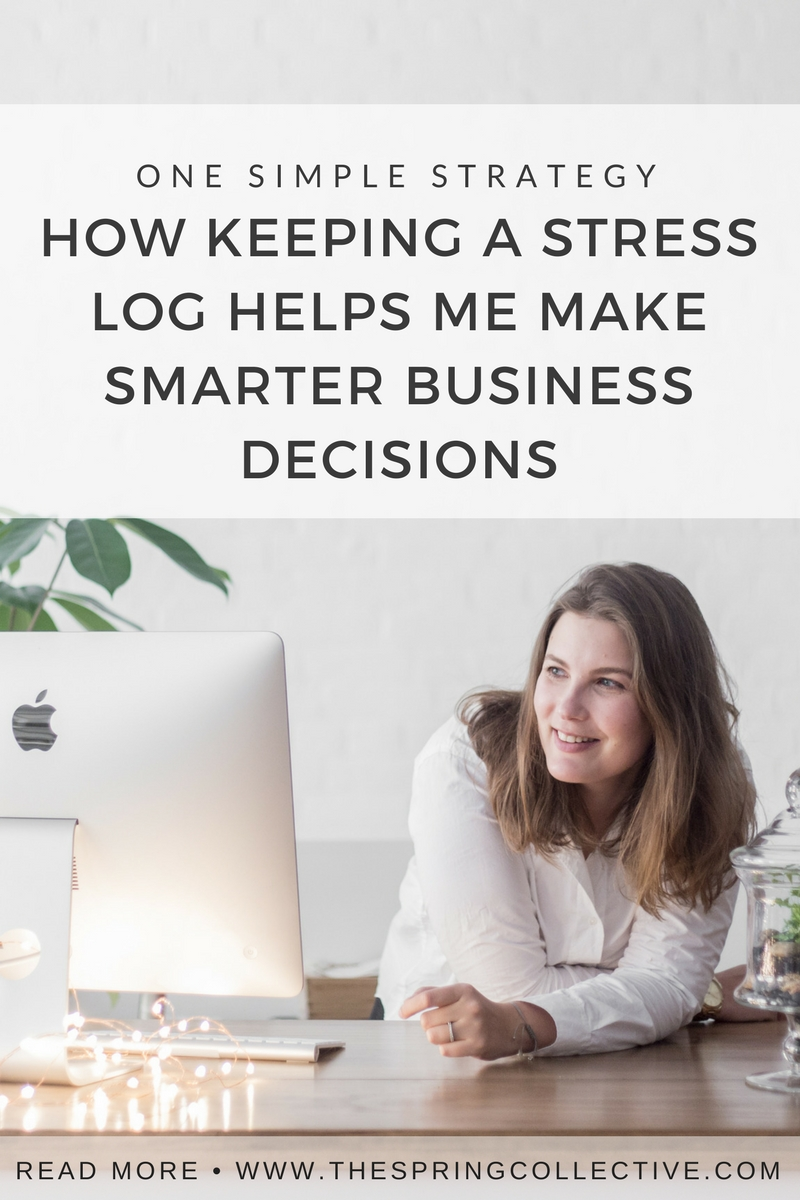 For the past couple of months I've been keeping a stress log, which is just a regular brain dump of all the things, big and small, causing worry. The patterns this simple strategy reveal help me make smarter decisions as I grow my business... click over to read how it works.