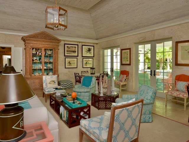 The Living Room Is A Swirl Of Turquoise And Coral, Wrapped In Natural,  Neutral Tones Of Stone And Cerused Wood, Making It Both Boisterously  Bubbly, ... Part 89
