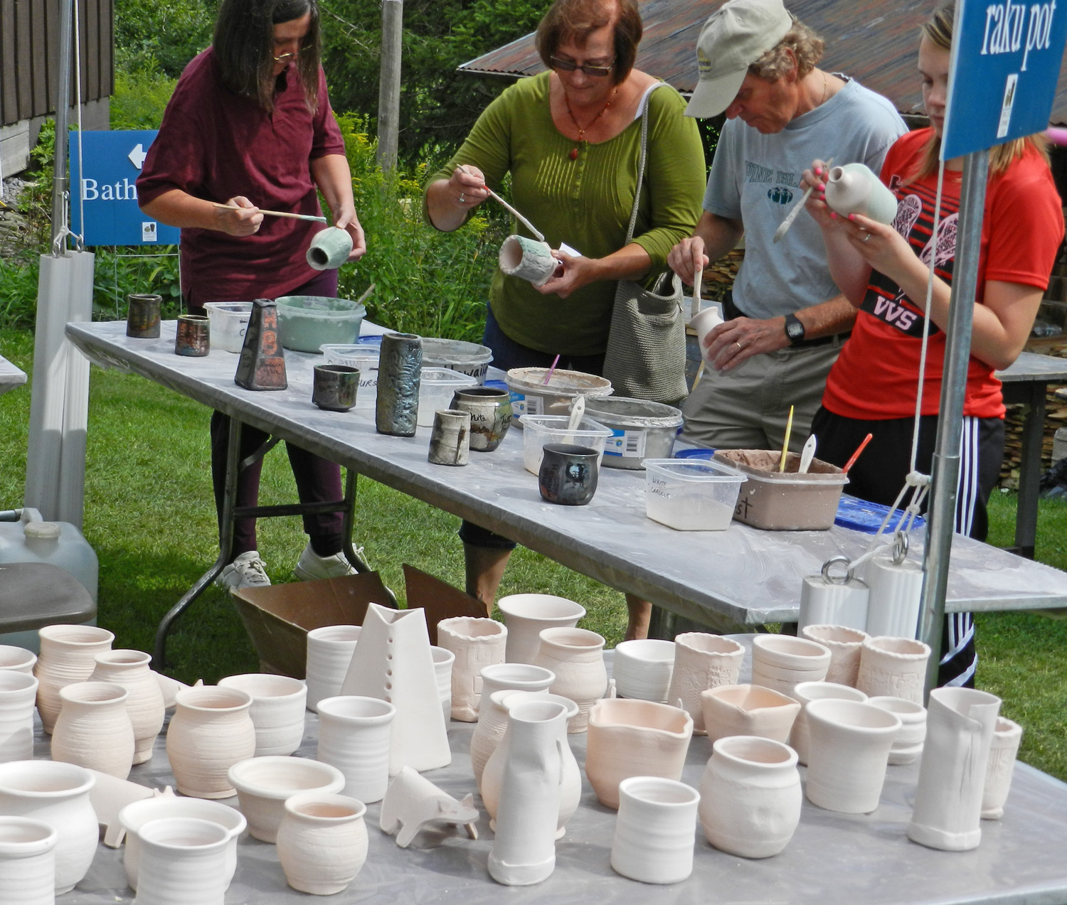 Paint Your Own Raku Pot PF 2013
