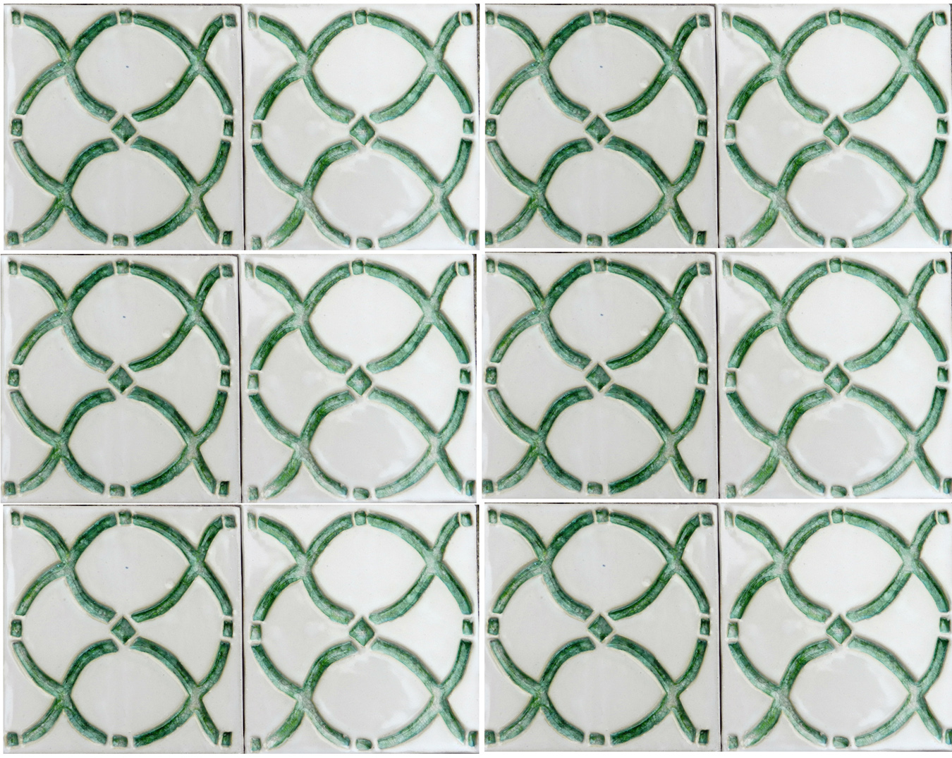 Crystal Lattice with Green glass mural