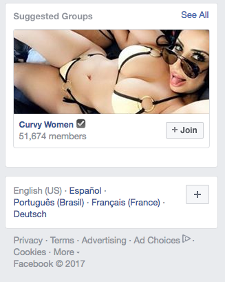 This is the group Facebook suggests I should join.