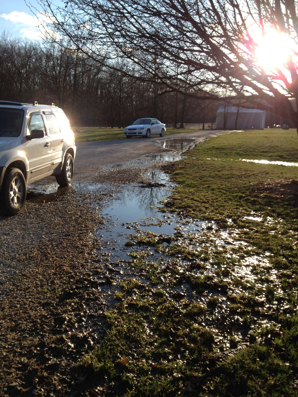 Moat for a driveway