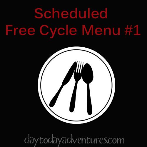 Scheduled Free Style Menu - DaytoDayAdventures.com