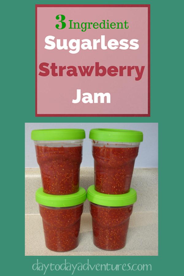 Sugarless Strawberry Jam - DaytoDayAdventures.com