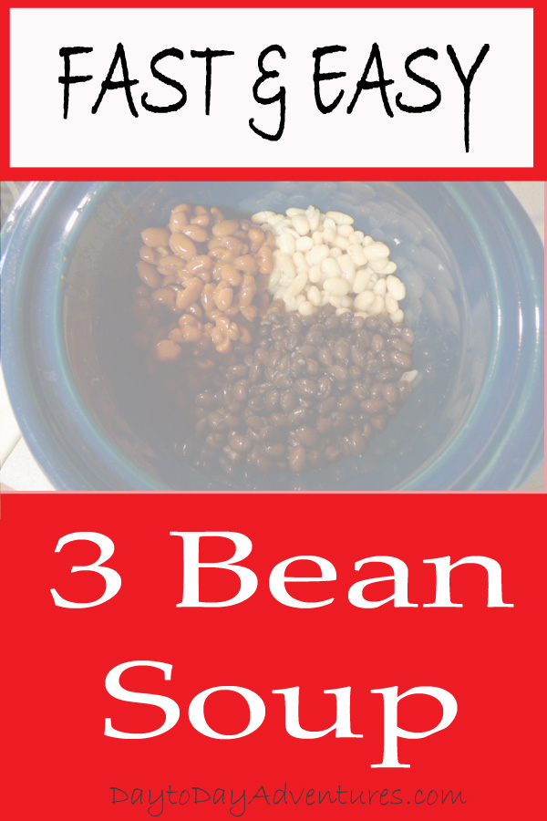 Kids cooking Fast Easy 3 bean soup - DaytoDayAdventures.com