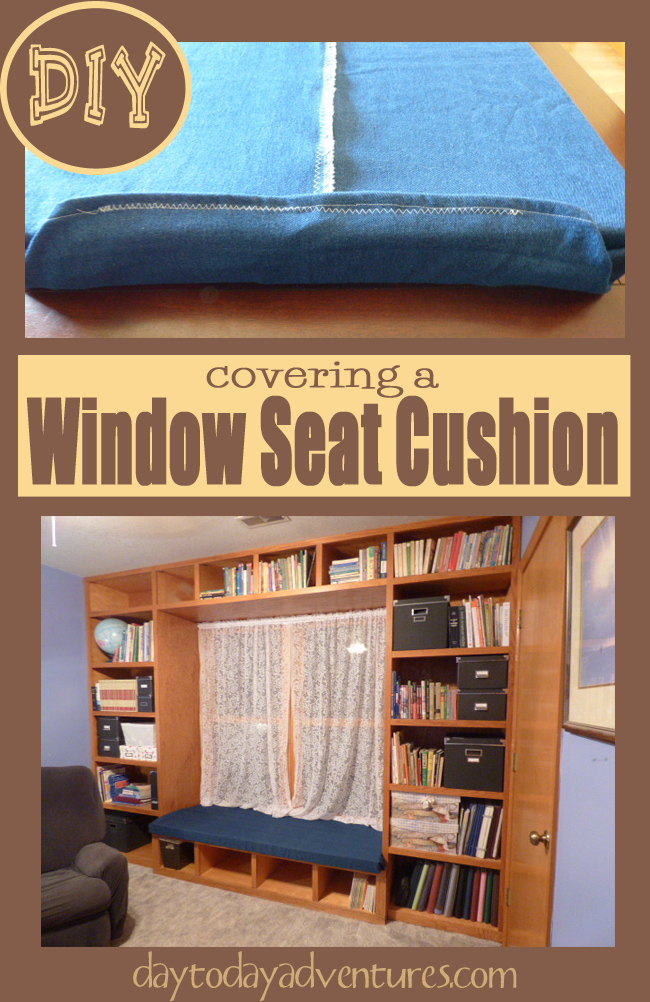 DIY Custom Cushion Cover for Window Seat - DaytoDayAdventures.com