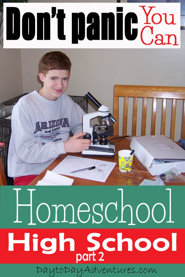 Home School High School part 2 - DaytoDayAdventures.com