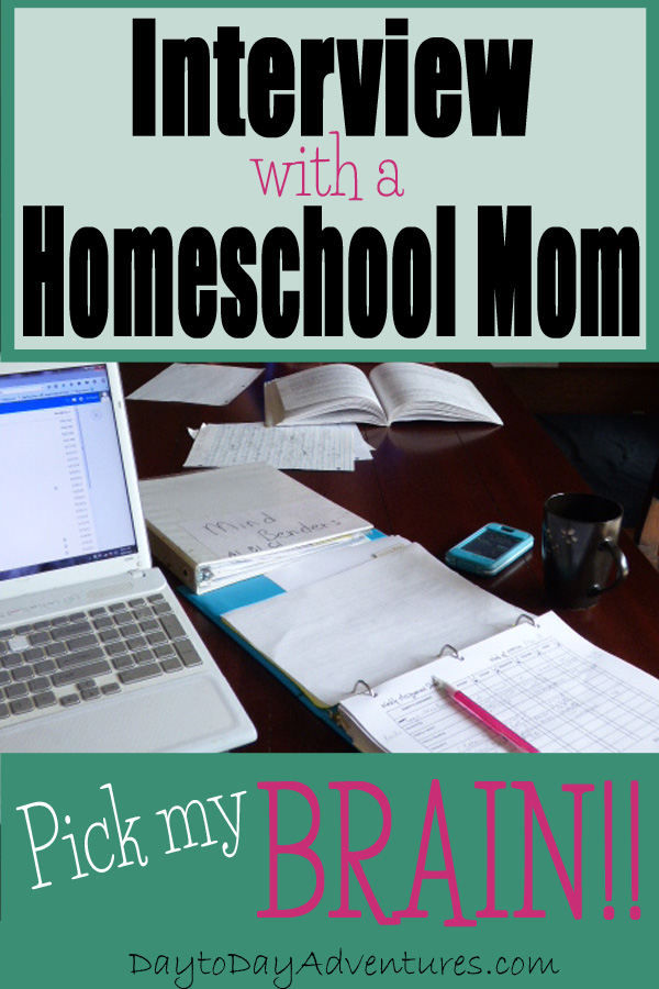 Have you ever wanted to pick a homeschool mom's brain?  Then check out this interview!  - DaytoDayAdventures.com
