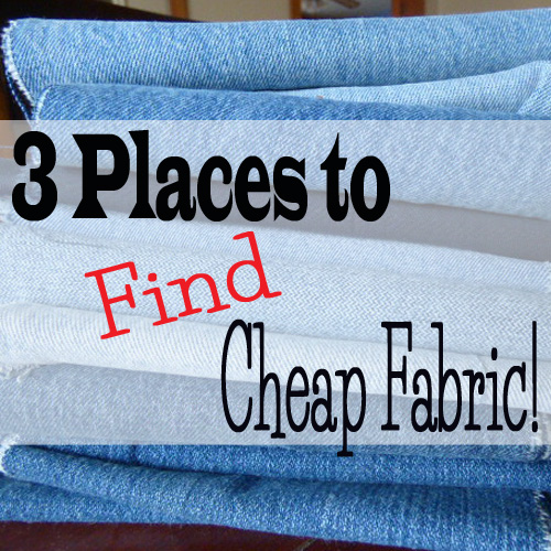 3 Places to find cheap fabric
