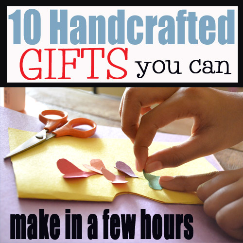 10 handcrafted gifts you can make in a few hours