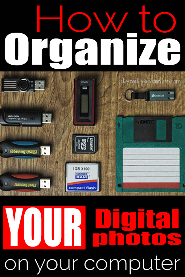 Photo Challenge Week #4 How to Organize Digital Photos in to Folders  - DaytoDayAdventures.com