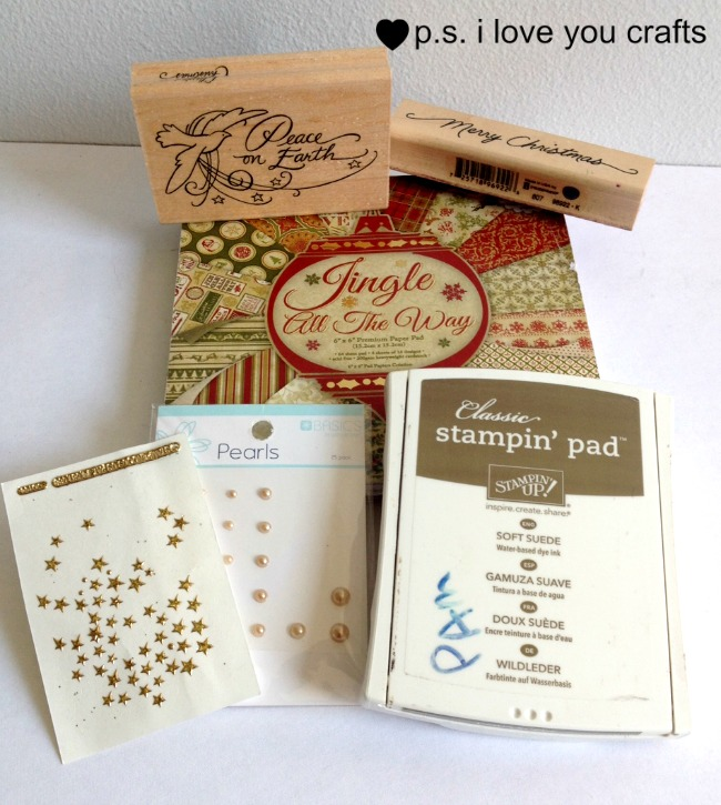 ere are three Easy Handmade Christmas Cards for you to make using only a few tools, stamps, and supplies.  They are very classy looking with simple layout designs.  I hope this gives you ideas for creating Homemade Christmas Cards this year.