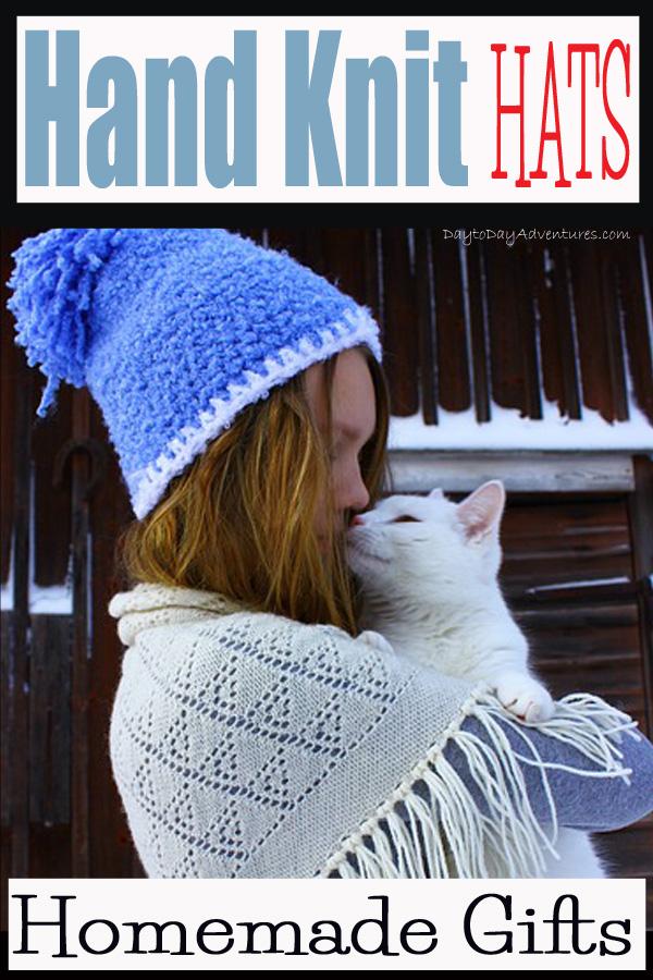 Handmade knit hats and homemade Christmas gift plans -- DaytoDayAdventures.com