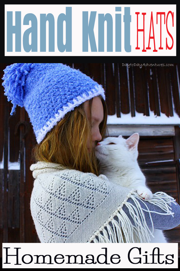 Handmade knit hats and homemade Christmas gift plans -- DaytoDayAdventures.com