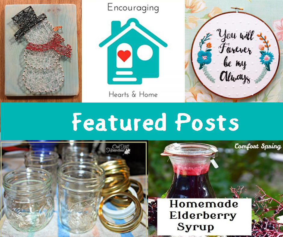 Ready to be encouraged?  Check out all the awesome posts from this week's Encouraging Hearts & Home