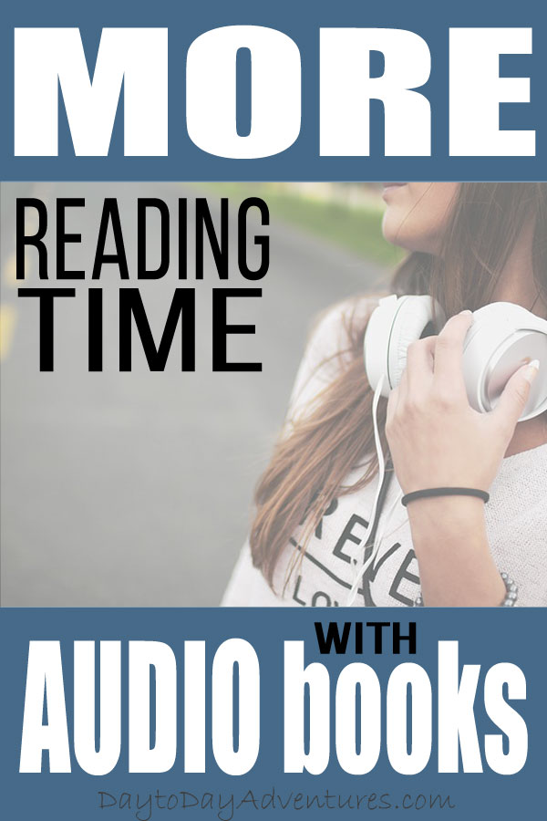 "Get more ""reading"" time with audio books!"