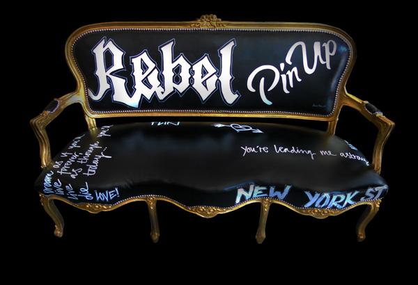 """""""Rebel Pin up Sofa Black"""""""