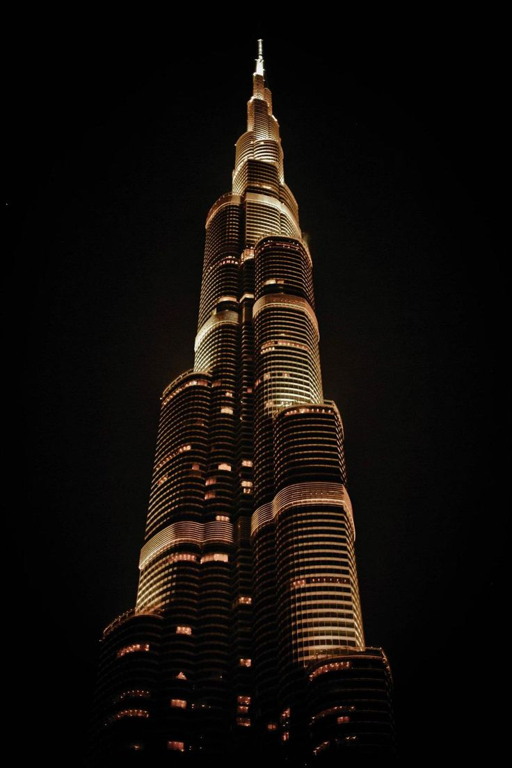 Tallest man-made structure- 829.94 m (Image Source: Tumblr)