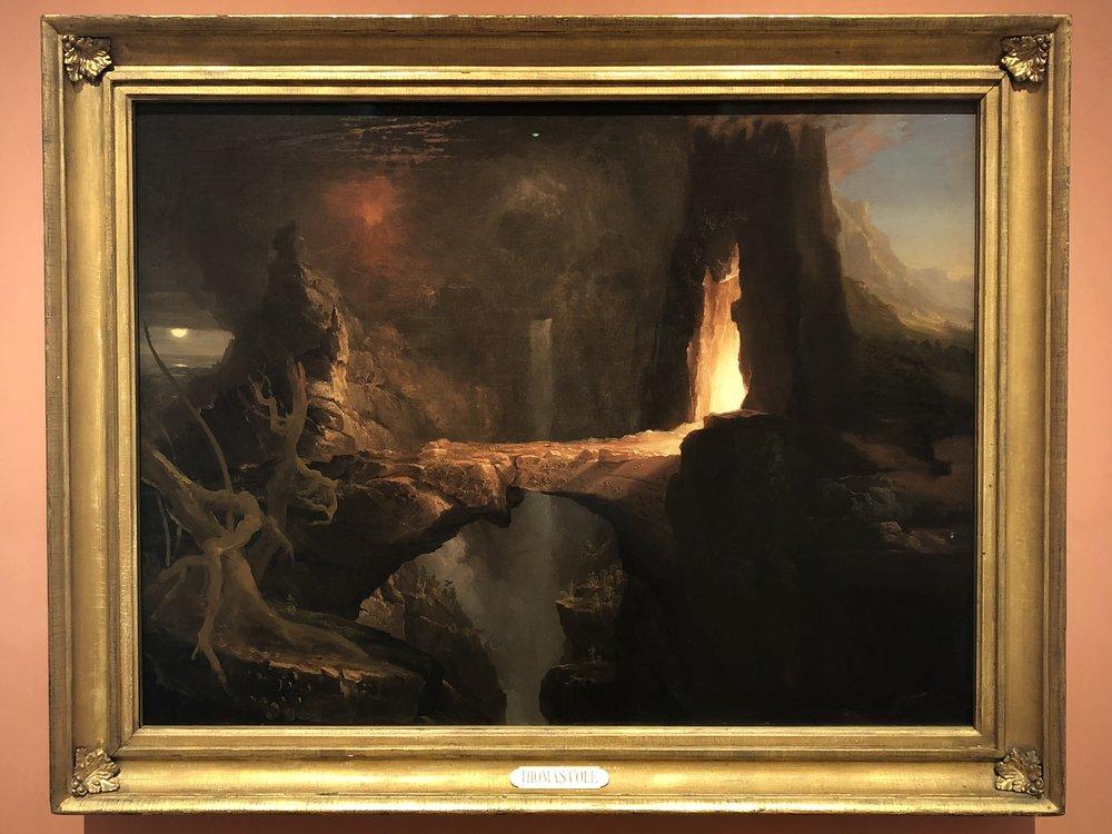 Thomas Cole  Expulsion, Moon and Firelight, 1828