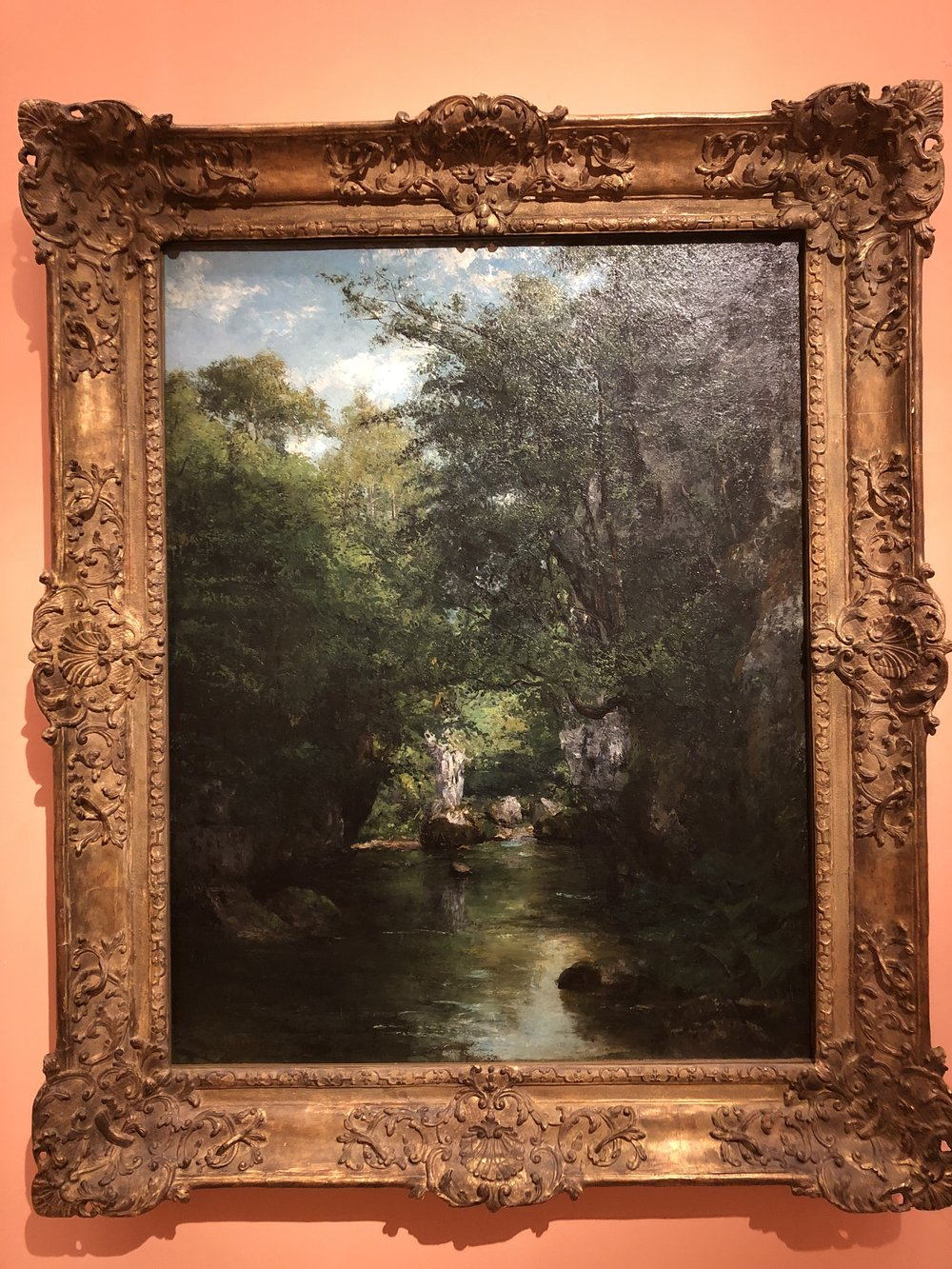 Gustave Courbet  The Water Stream, La Breme, 1866