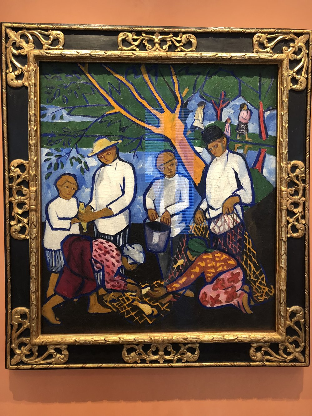 Natalia Goncharova  Fishing (Fishers), 1909